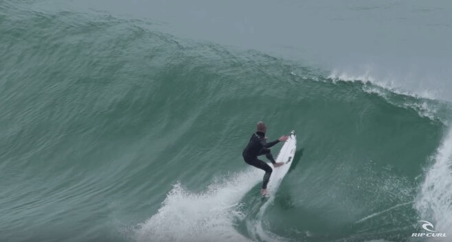 Mick Fanning solo session  in Peniche